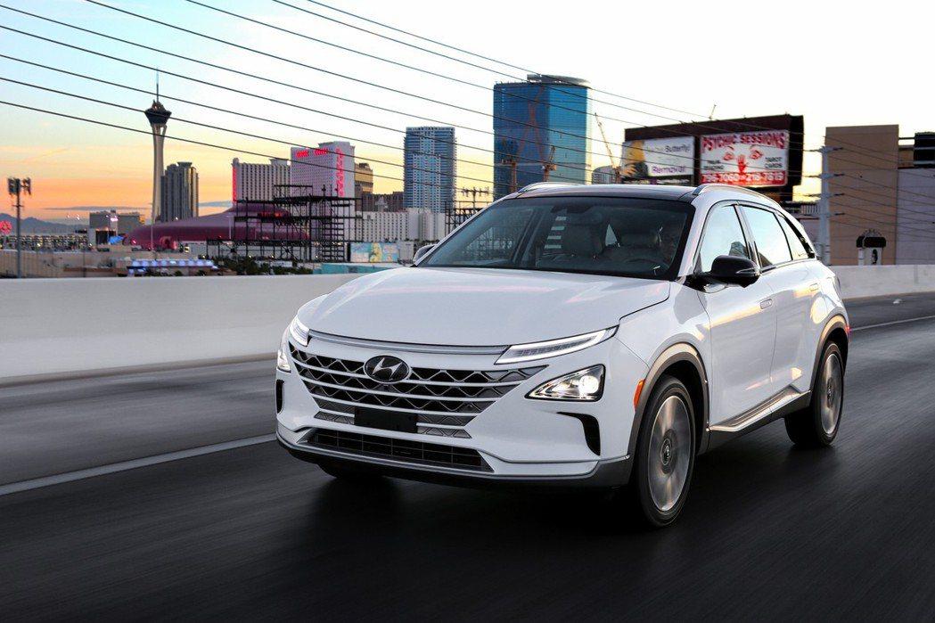 Nexo 為Hyundai新世代氫燃料電池車。 摘自Hyundai