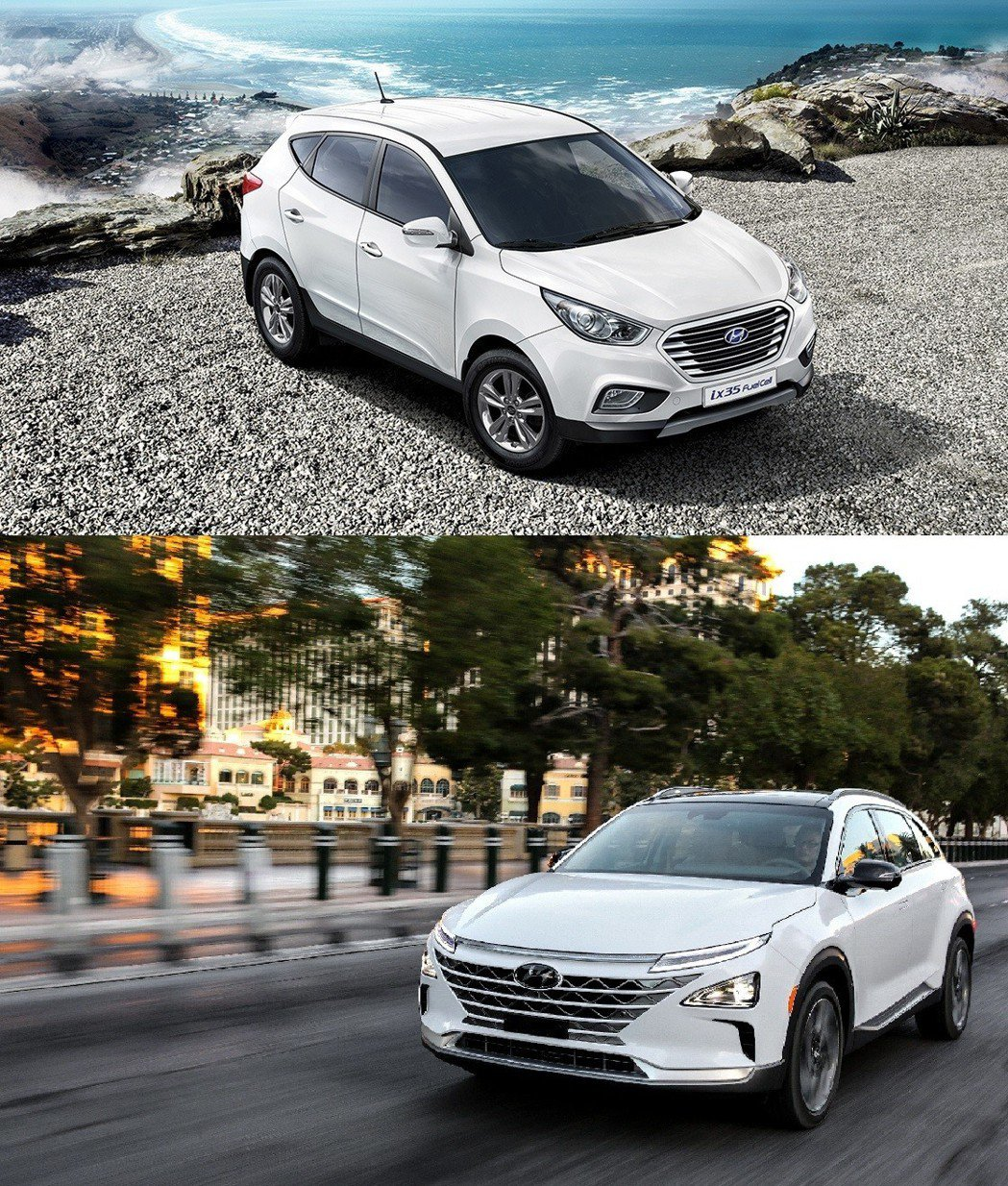 上圖為Tucson FCEV(ix35 FCAEV),下圖為Nexo。 摘自Hyundai