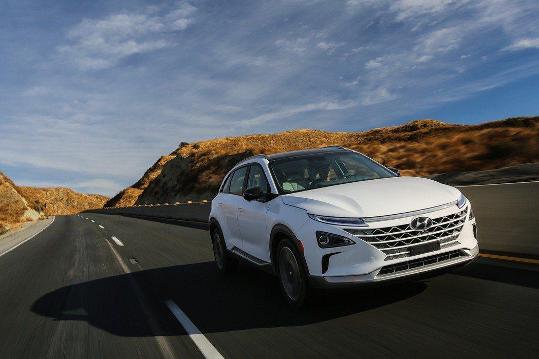 Hyundai Nexo 擁有350英里(約563公里)的最大續航距離。 摘自Hyundai