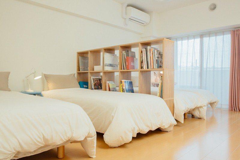 位於日本大久保百人町的DoMo民泊,打造了適合家庭客的四人房。 DoMo/提供