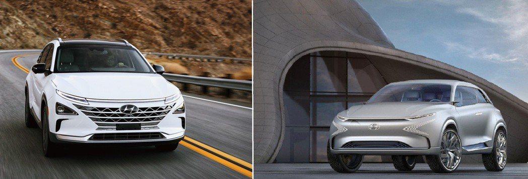 左圖為Hyundai Nexo,右圖為FE Fuel Cell Concept。 摘自Hyundai
