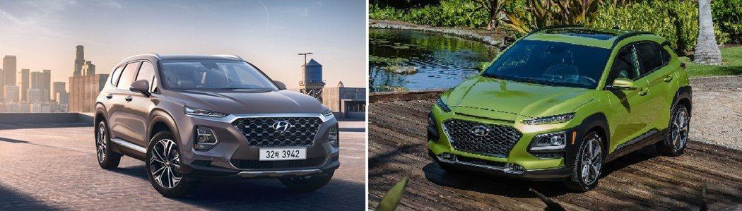 左圖為新世代Santa Fe,右圖為Kona。 摘自Hyundai