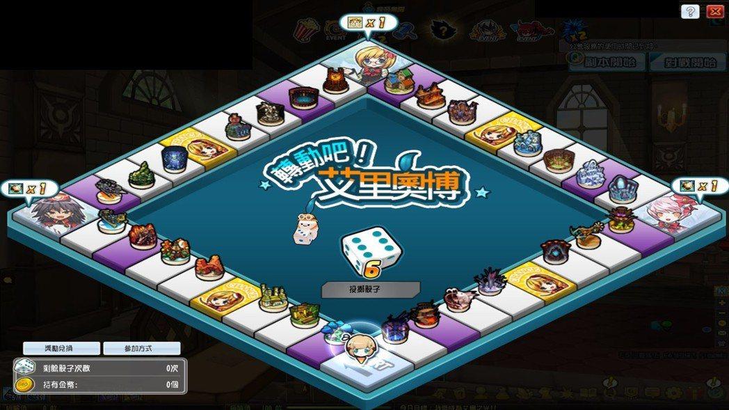 新年應景「轉動吧!艾里奧博」大富翁活動,各式豐富獎勵等著玩家。