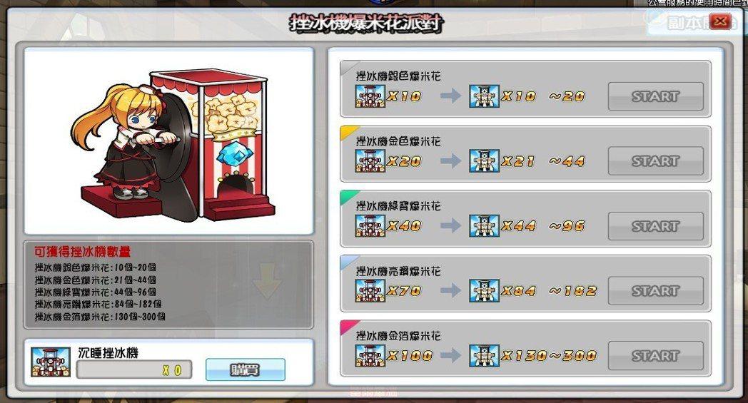 玩家可於「春節挫冰機爆米花派對」中挑戰更高獎勵。