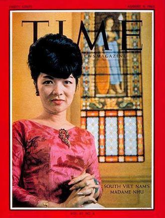 1963年《時代》雜誌封面。當期封面文章的標題是〈南越女王蜂〉,出刊於釋廣德自焚...