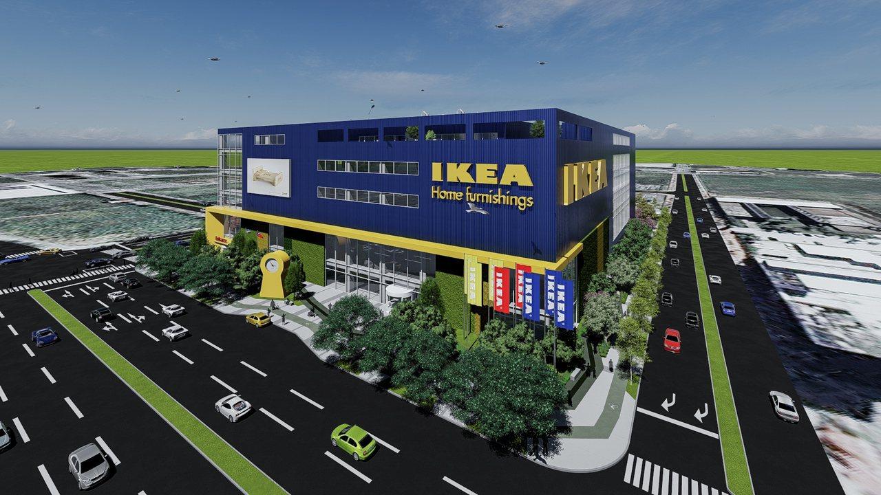 知名居家品牌IKEA宜家家居看準桃園交通便捷與發展潛力,選擇在桃園青埔高鐵特定區...