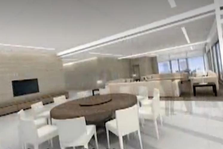 飯廳內的圓桌可容多人共餐。圖/摘自designcorpltd