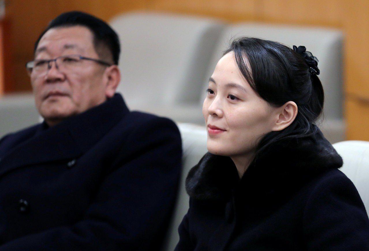 北韓領導人金正恩胞妹金與正9日和北韓高階代表團抵達南韓仁川機場,她是韓戰後首次出...