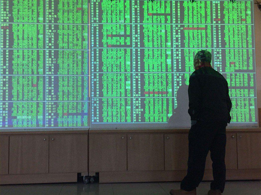 受美股重挫影響,台股開盤後已跌逾300點。 聯合報系資料照