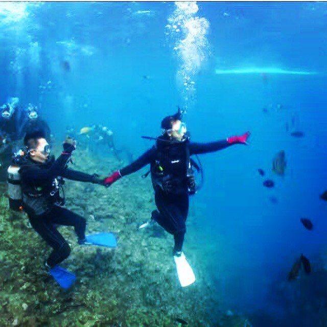 沖繩潛水過程也能拍成影片,適合用來投稿至「創意組」影片。 圖/日本福安觀光株...