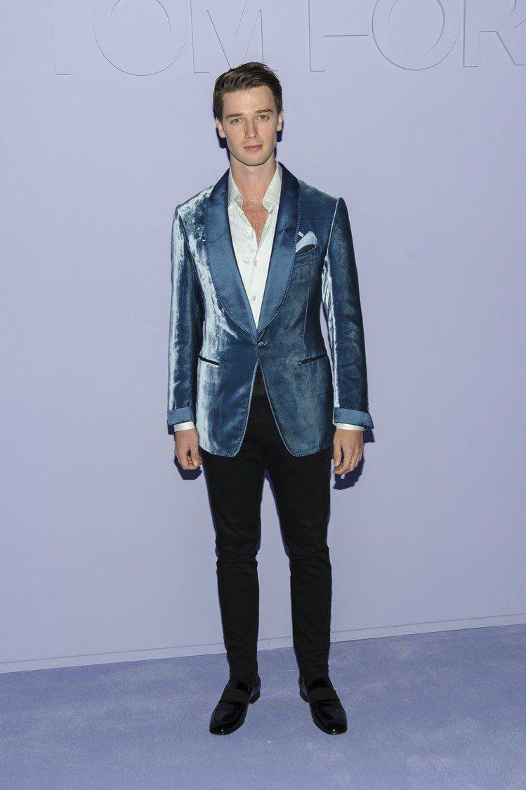 派翠克史瓦辛格出席Tom Ford 男裝秀。圖/美聯社