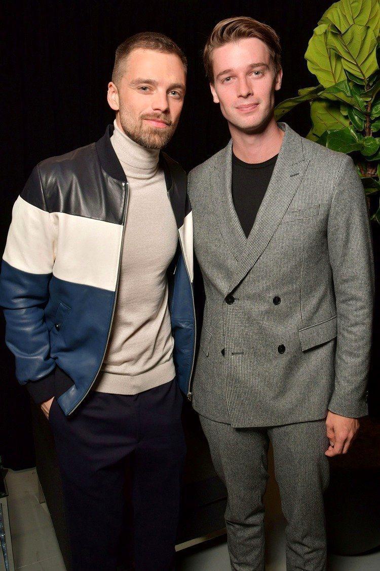 派翠克史瓦辛格(右)、「冬日戰士」Sebastian Stan前往欣賞Hugo ...