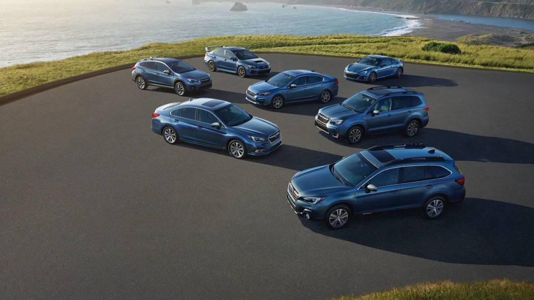 Subaru全車系50th特仕車。 摘自Subaru
