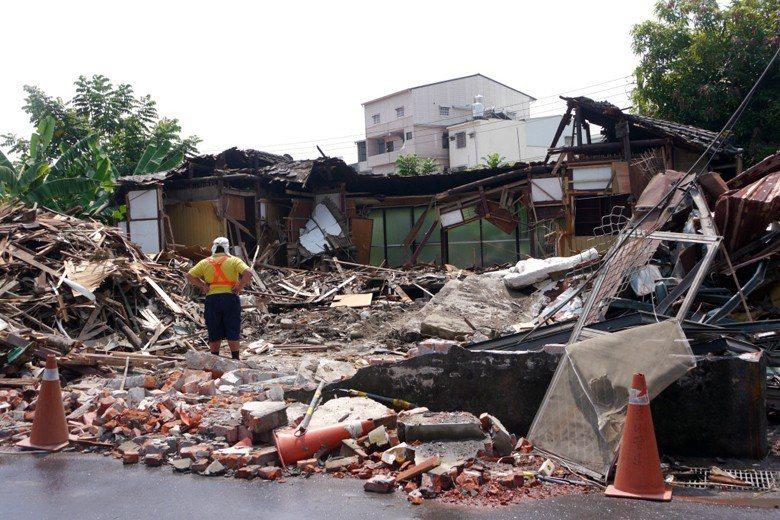圖為遭高雄市水利局拆除的旗山日式官舍。 圖/聯合報系資料照