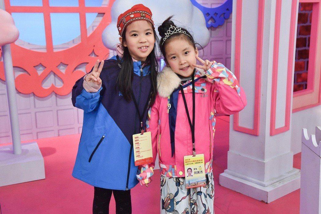 上海、台北兩地的小天使相見歡,透過才藝與多元活動體驗進行交流。