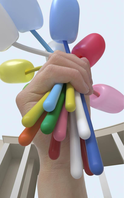 《鬱金香花束》雕塑模擬示意圖。JEFF KOONS,Bouquet of Tul...