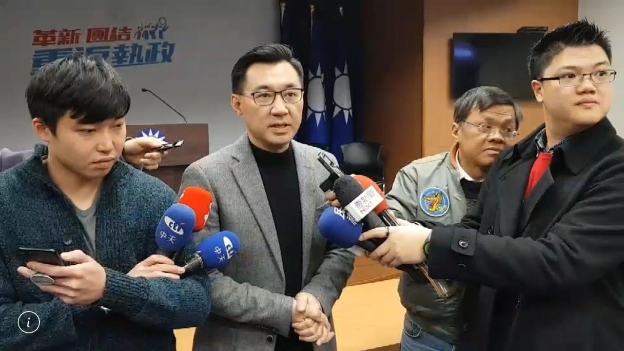 立委江啟臣說接受民調結果,尊重黨的機制。記者陳秋雲/翻攝