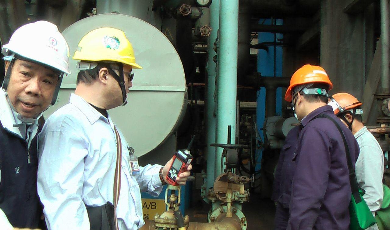 中油大林廠烷化工場的壓力表損壞,依職業安全衛生設施規則開罰。記者徐如宜/攝影