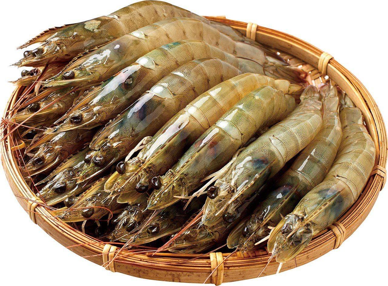 阿拉伯藍鑽蝦1公斤,售價599元。圖/家樂福提供
