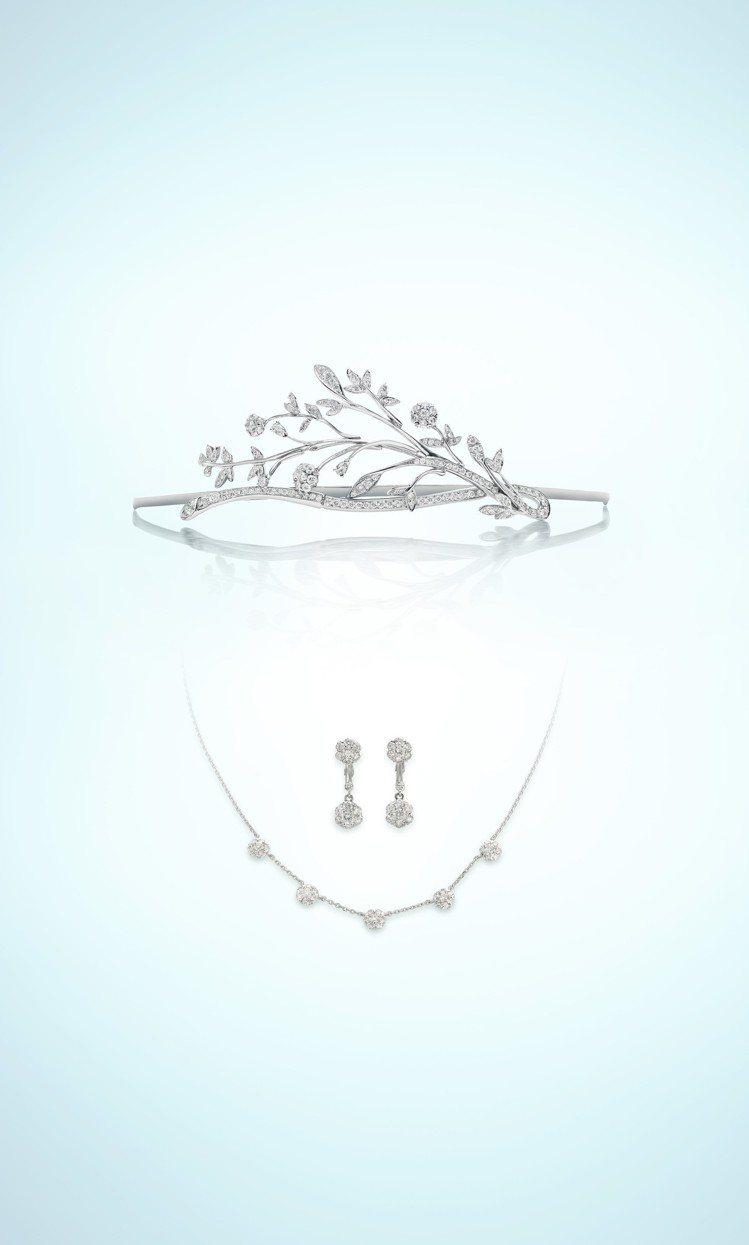 Princess Flower 皇冠組合,約100萬元。圖/銀座白石提供