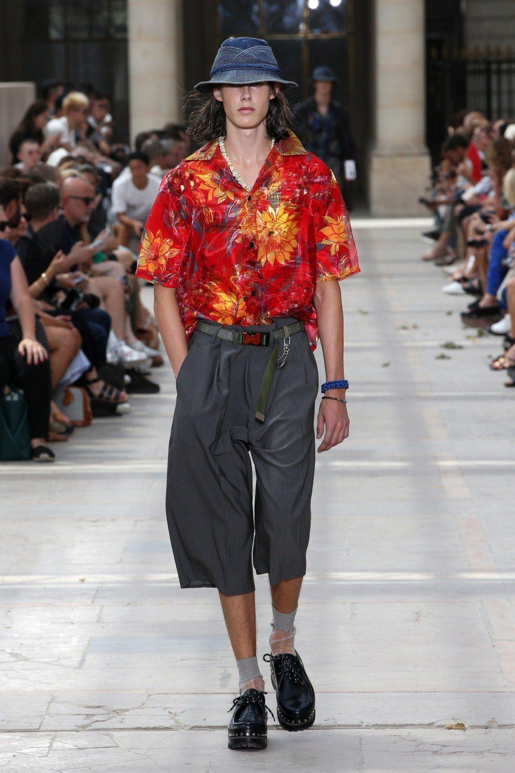 路易威登2018春夏男裝的雙層夏威夷襯衫。圖/LV提供