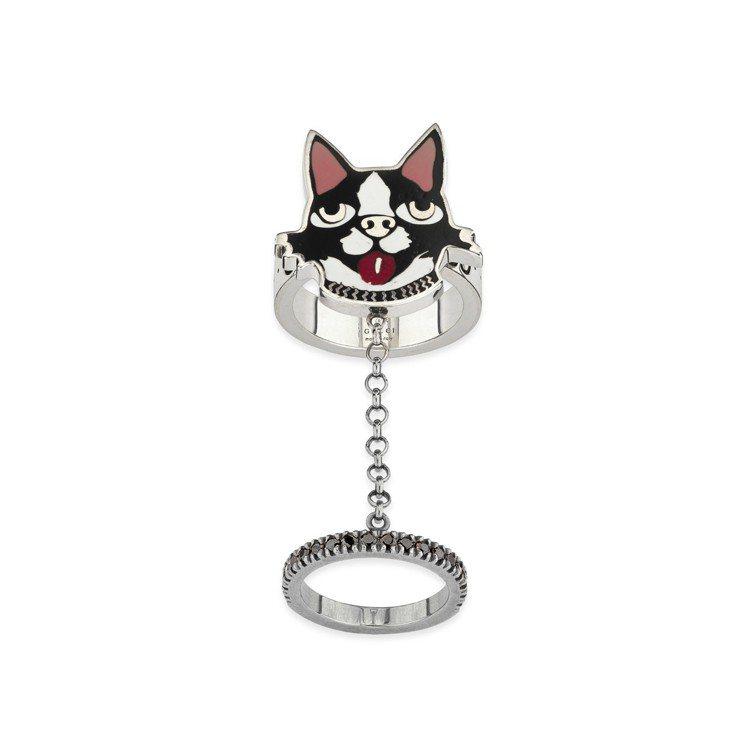 Gucci2018 農曆新年限定,小狗造型戒指, 18,600元。圖/Gucci...
