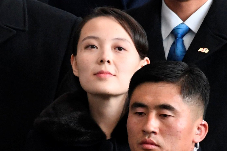 金正恩的胞妹金與正出席平昌冬奧開幕式,廣受注目。 路透