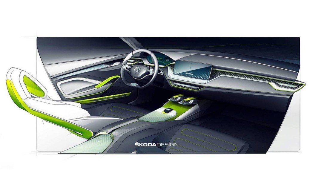 圖為ŠKODA Vision X Concept 內裝。 ŠKODA