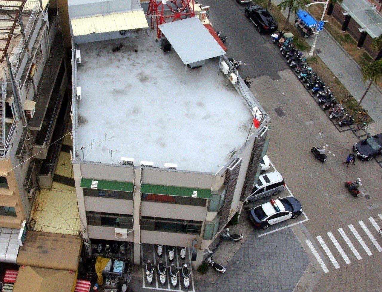 俯瞰旗津分駐所是少有的五角形建築。圖/聯合報系資料照片