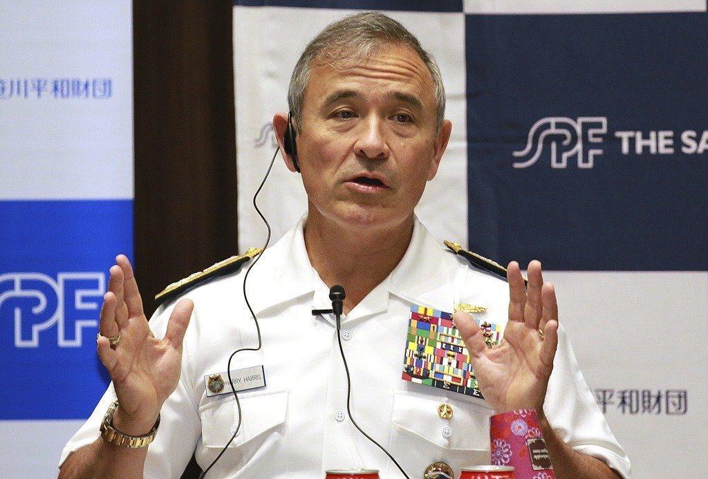 美國總統川普9日宣布,提名美軍太平洋司令部司令哈里斯出任駐澳洲大使。(美聯社)