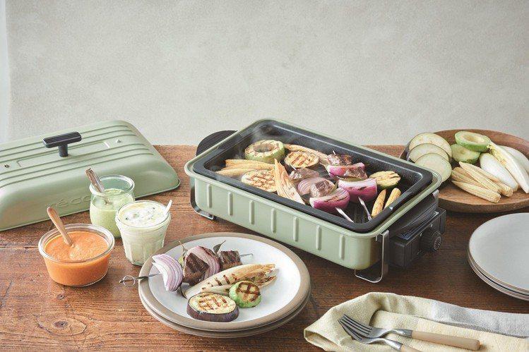 recolte Home BBQ 電烤盤貝殼綠限定款,原價4,990元,特價3,...
