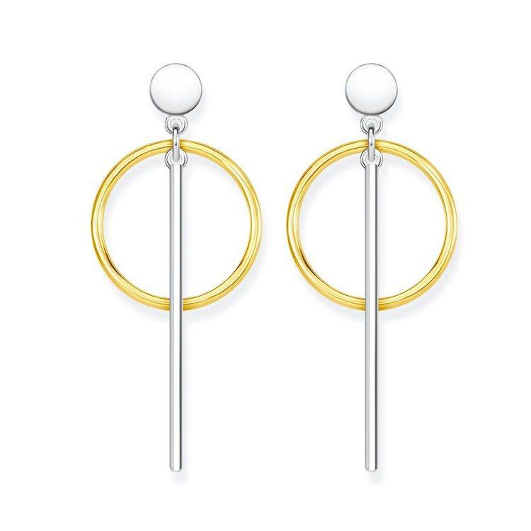 金圈純銀垂墜耳環,7,680元。圖/Thomas Sabo提供