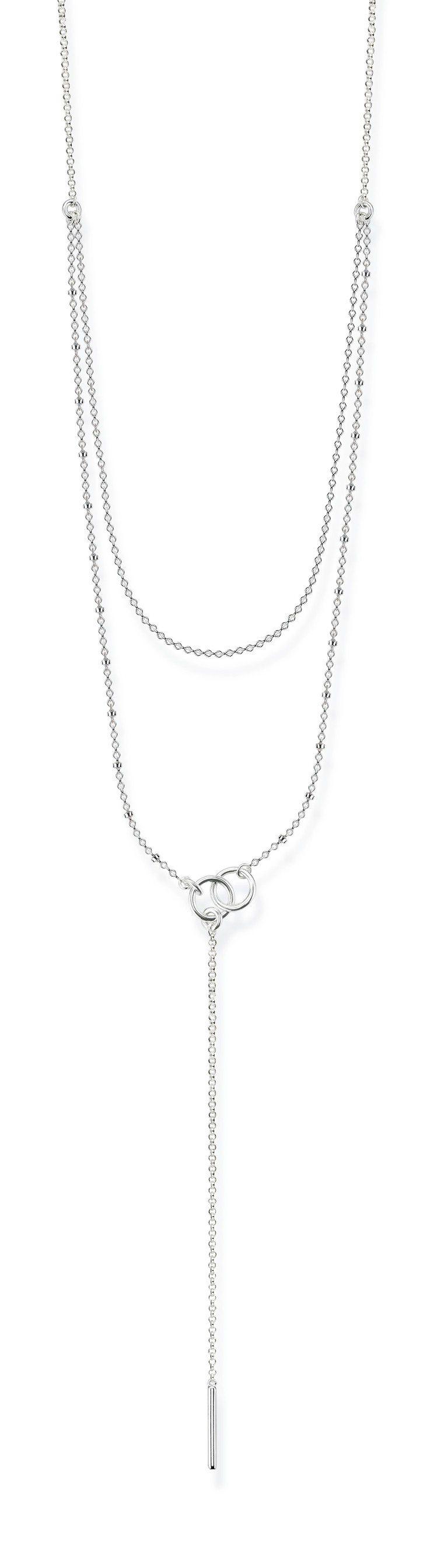 純銀雙層極簡項鍊,6,280元。圖/Thomas Sabo提供