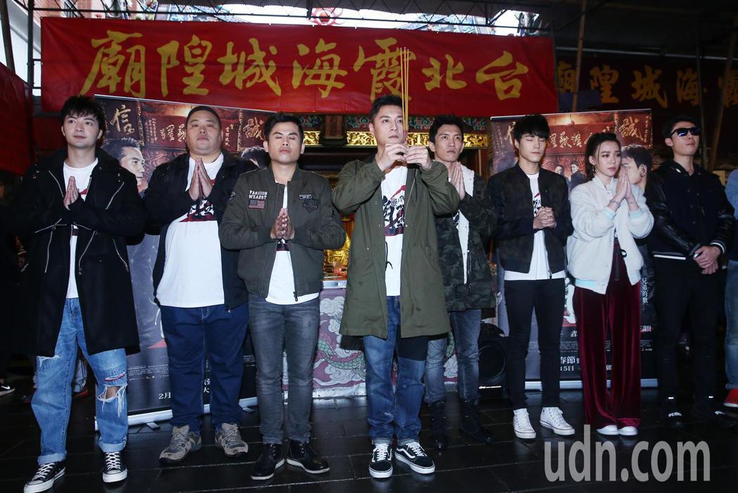 電影《角頭2》劇中演員鄭人碩、王宣、黃尚禾、張再興、唐振剛、古斌、陳政文等人下午