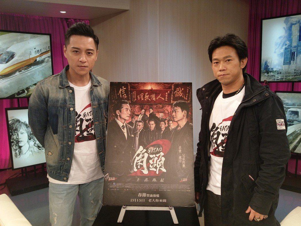 鄭人碩(左)和顏正國為電影付出許多心力。圖/台視提供