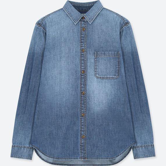 牛仔襯衫790元。圖/UNIQLO提供