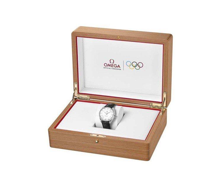 每一款海馬系列黃金典藏奧運腕表都有獨特的盒裝。圖/OMEGA提供