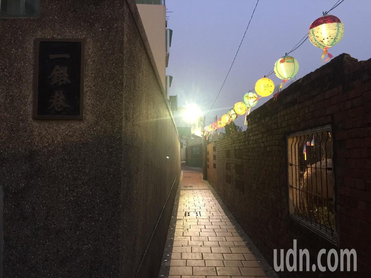 台南市鹽水區一銀巷。記者吳政修/攝影