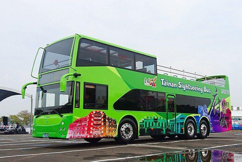 台南雙層巴士。 台南市政府/提供