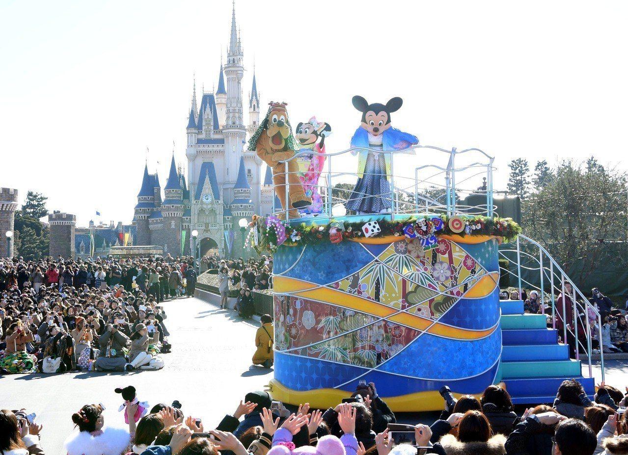 日本東京迪士尼。圖/新華社照片