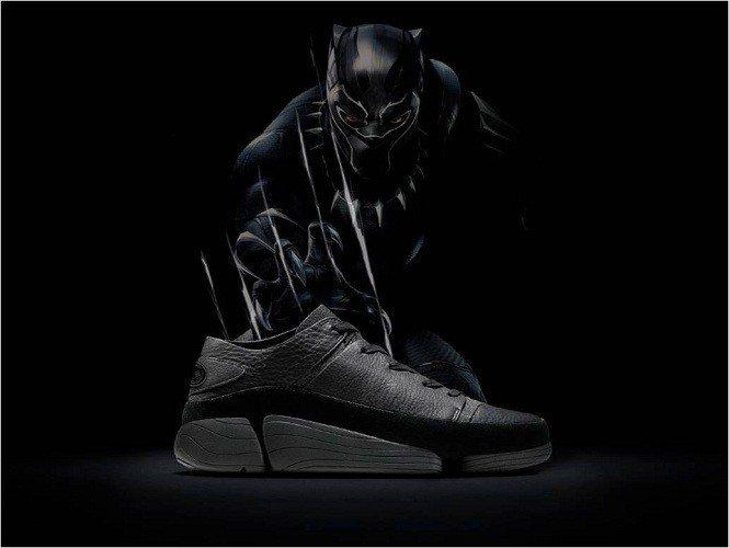 超級英雄《黑豹》電影將於2月13日於全台上映,漫威迷瘋搶限量《黑豹鞋》。圖由廠商...