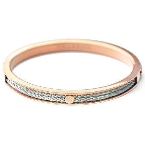 原價8,500元的【CHARRIOL】Forecer Thin 經典鋼索手環-玫...