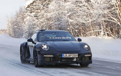 全新Porsche 911冬季測試中 冰天雪地瑞典捕獲