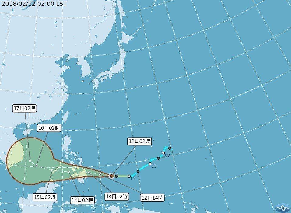 2號颱風「三巴」未來將穿過菲律賓進入南海,對台灣沒有影響。但除夕、初一可能影響「...
