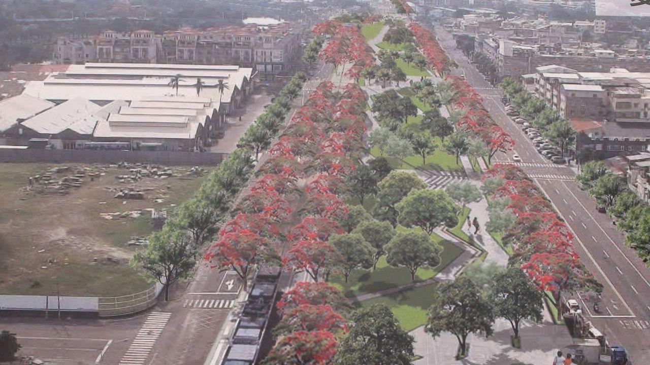 鐵路地下化後,要把軌道變成園道。(示意圖)。記者謝梅芬/攝影