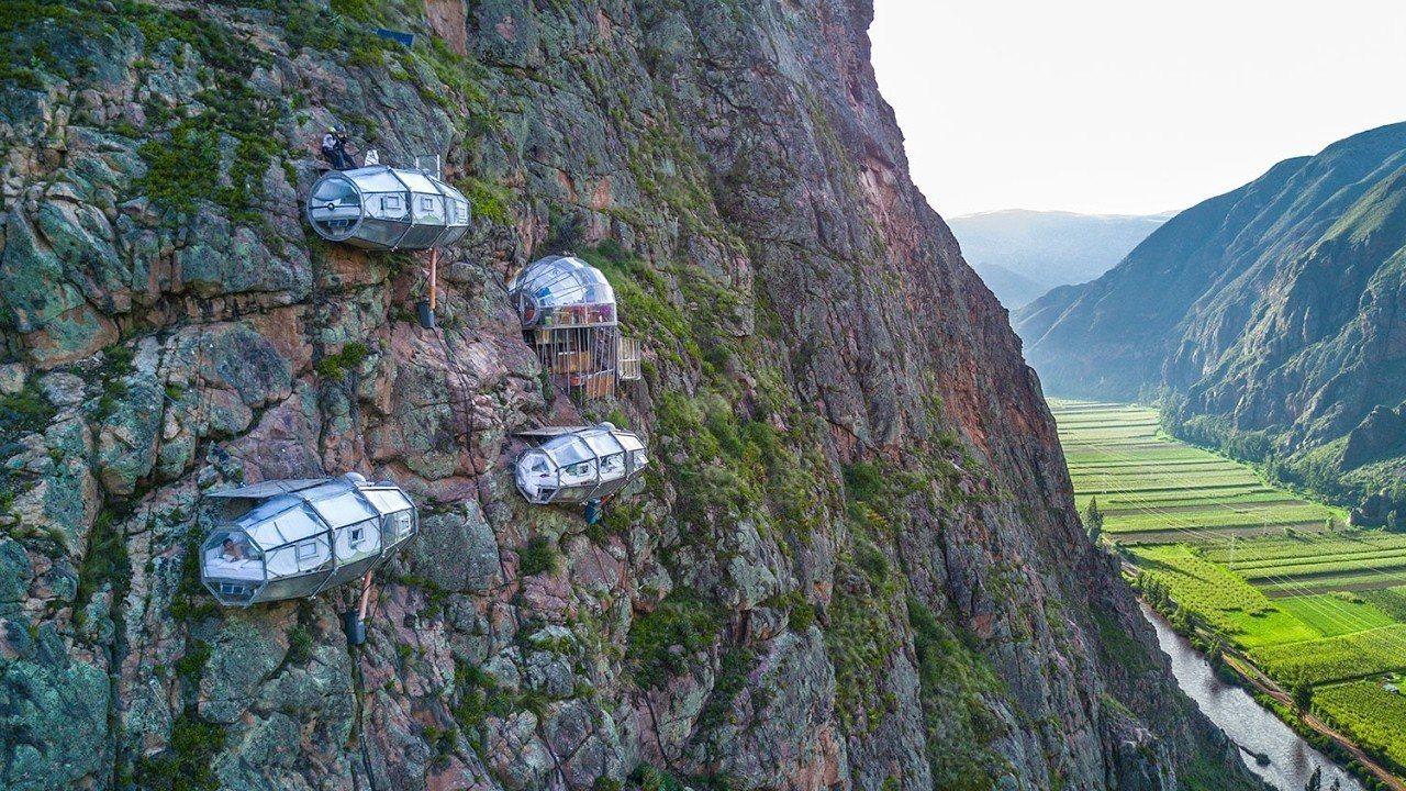秘魯神聖谷的懸空玻璃旅館,讓遊客可以俯瞰峽谷美景。Natura Vive