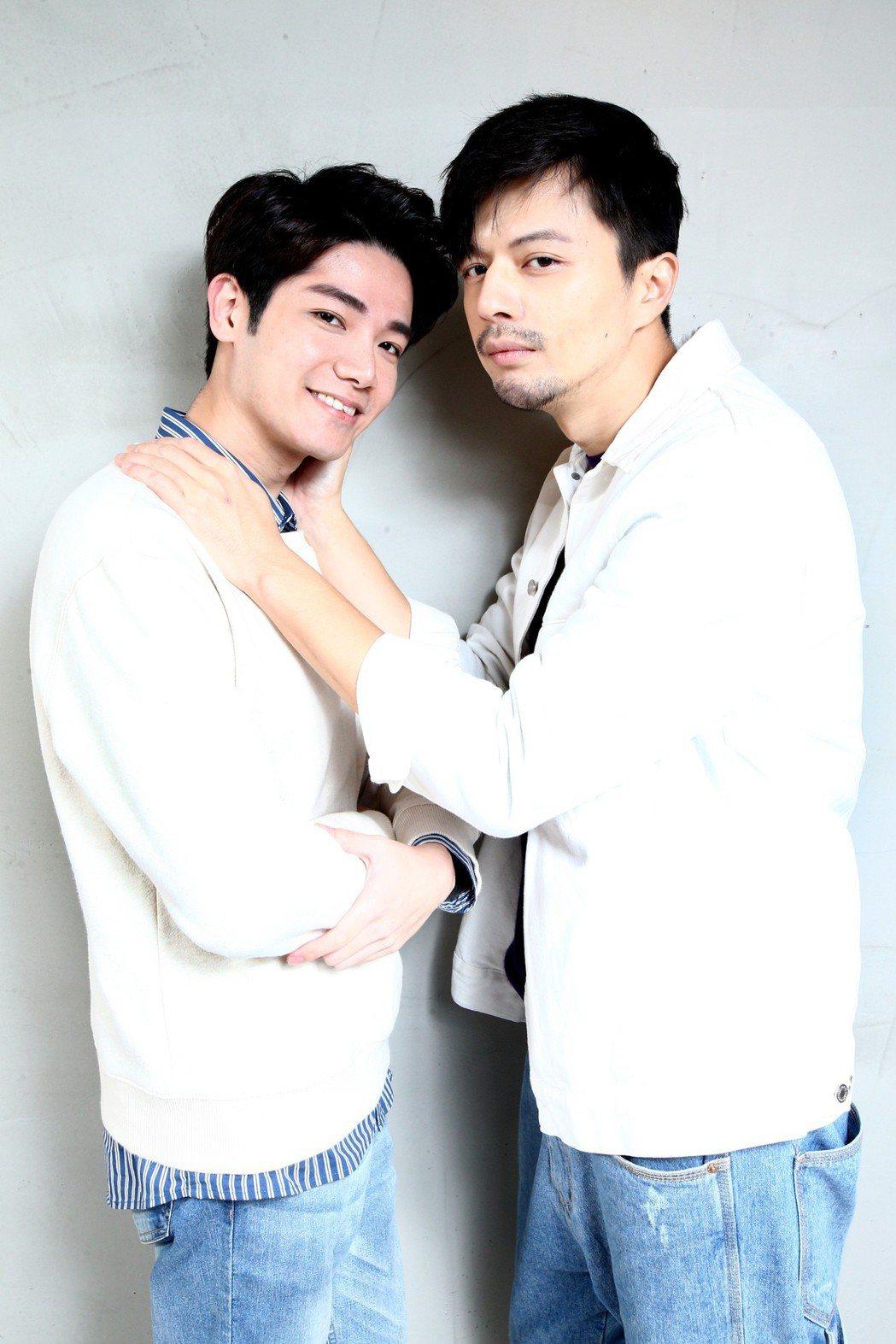 「是非」的演員張行(左)與江常輝(右)專訪。記者蘇健忠/攝影