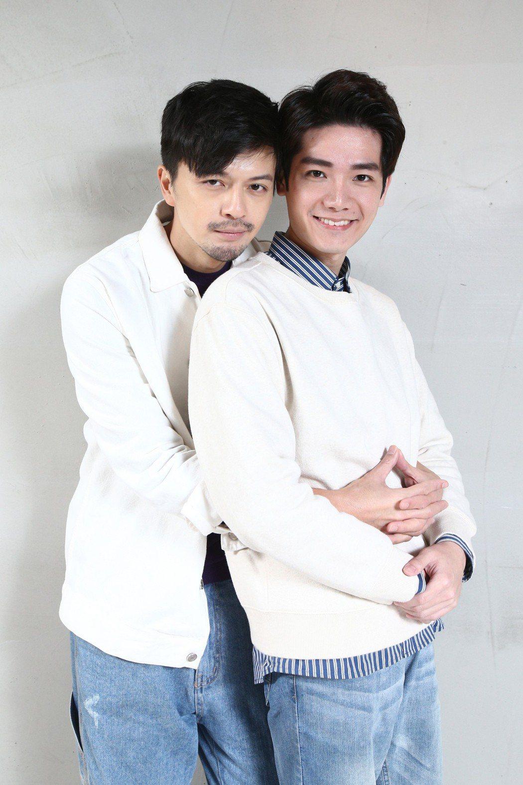 「是非」的演員江常輝(左)與張行(右)專訪。記者蘇健忠/攝影