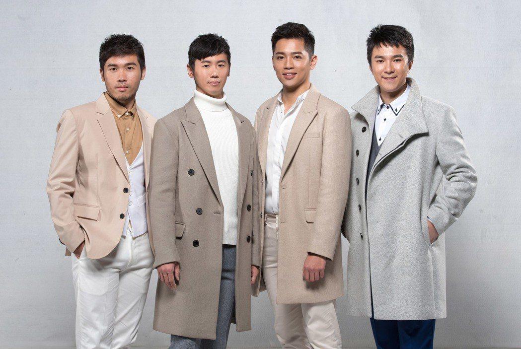 TVBS社會記者林耿賢(左起)、軍事記者相振為、氣象主播彭志宇和體育主播藍于洺嘗