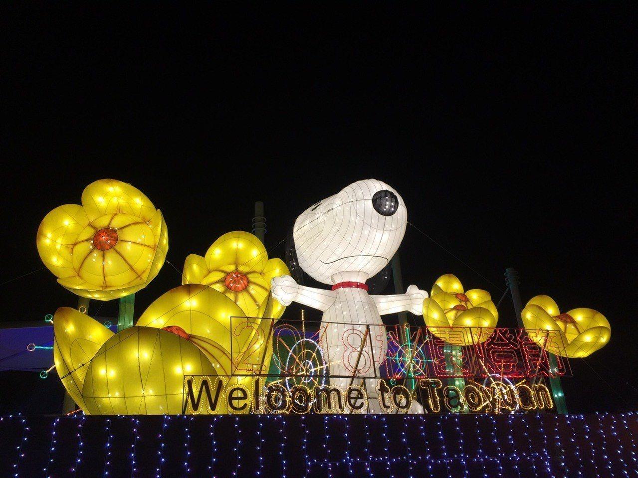 2018桃園燈節即將在年初六21日點燈開啟,最吸睛的Snoopy桃園主燈區,史努...